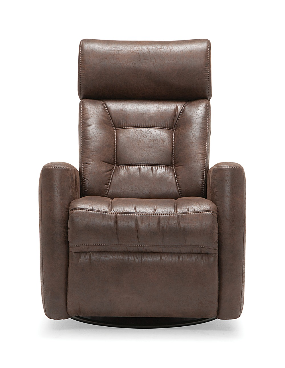 Baltic Leather Power Recliner Amp Headrest Swivel Glider